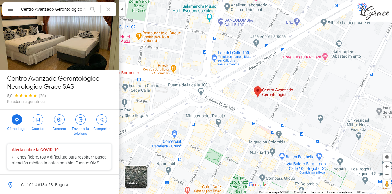 Mapa Google Maps Centro Grace